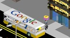 The Google bus drops of another visitor in VisitorVille
